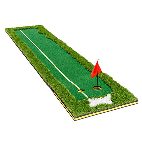 TC Sports Putting Green, 2.5ftx10ft Portable Golf Putting Green Indoor Mat for Home Golf Putter Practice and Training in Indoor/Outdoor and Backyard
