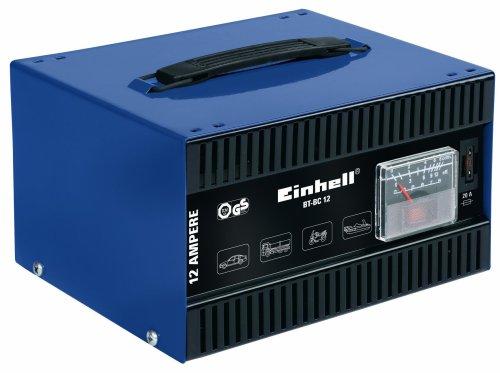 Einhell BT-BC 12 Batterieladegerät, 12 V Ladespannung, Bleiakkus von min. 26 Ah - max. 200 Ah, eingebautes Amperemeter