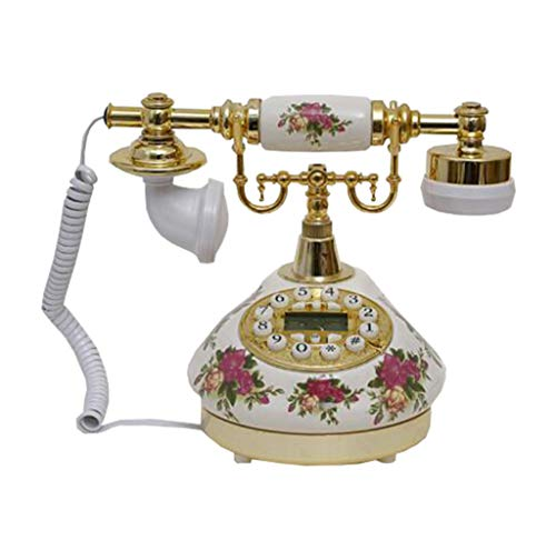 VERDELZ Telefono Antico Stile Europeo Vintage per Arredamento Casa/Hotel/Ufficio