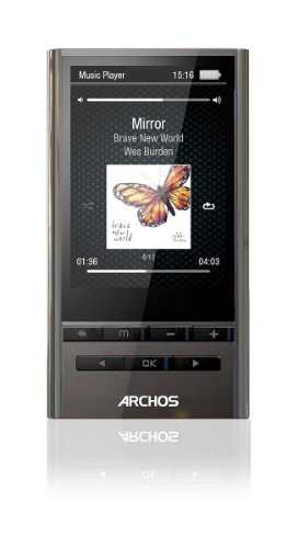Archos 24y vision Player MP3-Player mit Yamaha Sound Technologie (8 GB, 6,1 cm (2.4 Zoll) Farb-Display, FM-Radio, Mikro) silber