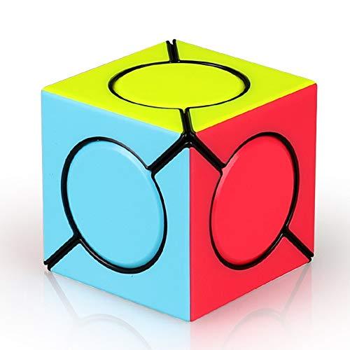 HJXDtech Speed Cube Irregular Magic Cube, el más Nuevo Cube cilíndrico Skewb Cube Gran Idea de Regalo para niños (Color vívido)