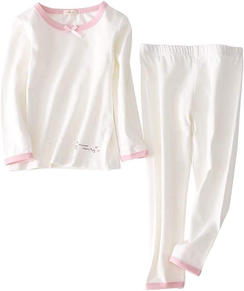 HOUTBY Girls Pajama Set Floral White Toddler Sleepwear Kids Underwear Home Clothing Set