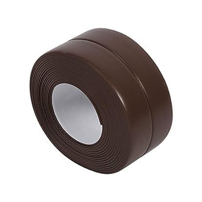 Foto di Striscia sigillante guarnizione parete nastro adesivo lavello cucina bagno vasca bordi impermeabile decorativo PVC flessibile prova muffa tenere puliti angolo controsoffitto Brown(38mm*3.2M)