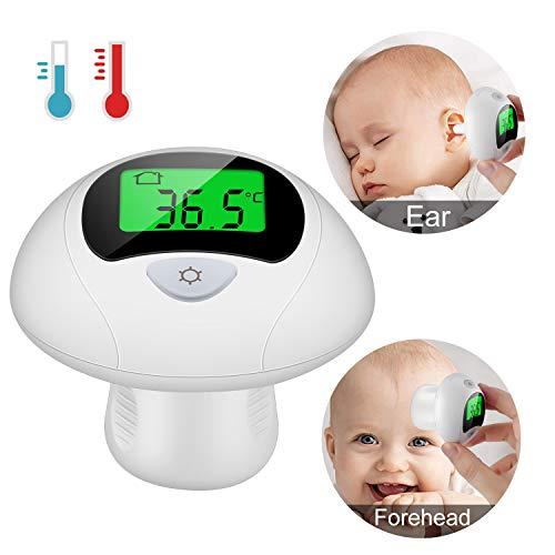 Viedouce Termometro Bambini Termometro Infrarossi Digitale Medicale Fronte Orecchio per Neonato Bambini e Adulti, Termometro Digitale Fronte e Orecchio,Lettura Immediata,Approvato CE/ROHS/FDA