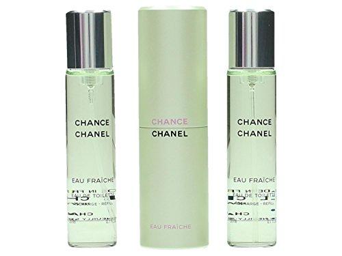 Chanel Chance Eau Fraiche Eau De Toilette Purse Spray for Women 3 X 0.7, 2.1 Fl Oz