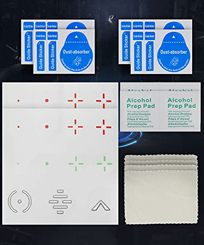 Reusable Transparent Aim Sight Assist Decals - FastScope TV or Monitor Decal for FPS Video Games for PC, Switch, Xbox & Playstation (22pcs in 3 colors 7 Designs)