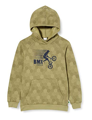 Fred's World by Green Cotton BMX Hoodie Sudadera con Capucha, Musgo, 104 para Niños