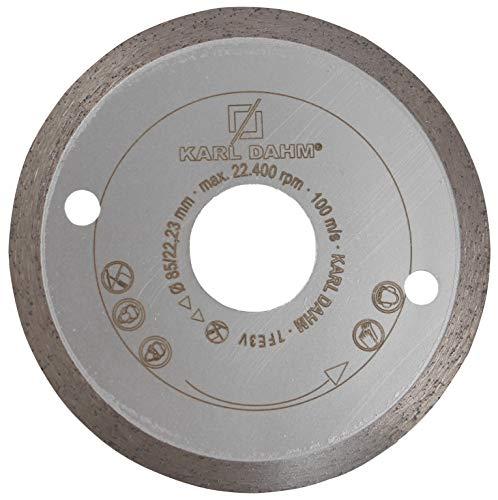Karl Dahm Profi Diamant Trennscheibe 85 mm Fliese/Feinsteinzeug 50091-85 x 22,23 mm