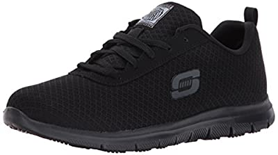 Skechers for Work Women's Ghenter Bronaugh Work and Food Service Shoe ,BLACK, 7M US