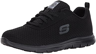 Skechers for Work Women's Ghenter Bronaugh Work and Food Service Shoe, BLACK, 9 M US