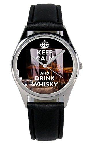 Geschenk für Whisky Liebhaber Fan Whiskey Kenner Uhr 10114-B