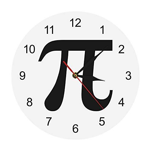 N / A Creativo Pi Numerazione Orologio da Parete Matematica Pi Orologio Freak Nerd Matematica Orologio da Parete Chic Orologio per Amanti della Matematica Regalo per Insegnante Orologio da Parete