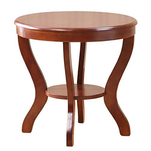 YULAN Massief houten kleine salontafel Nordic eenvoudige ronde tafel woonkamer Side Chinese ronde balkon tafel