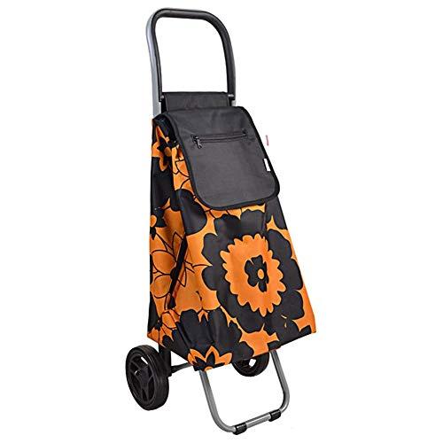 S$S Carro de la compra del hogar, ligero, plegable, de dos ruedas, de gran capacidad, para el hogar, de mano de empuje para coche, B