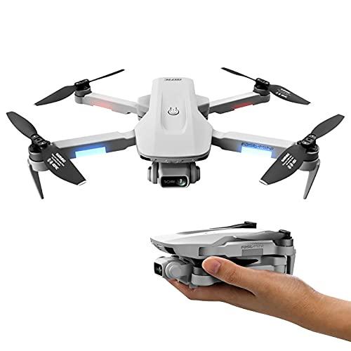 ZYUN Drone con Telecamera, Drone GPS Senza Spazzole 4K, Quadricottero RC Pieghevole con Tap Fly/Controllo Gestuale/modalità Senza Testa/Un Tasto di Ritorno, 2 Batterie Modulari