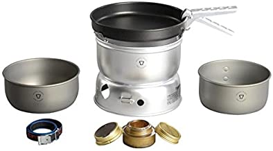 Trangia - 25-9 Ultralight Hard Anodized Camping Cookset | Includes: Alcohol Stove, 2 HA Pots, Non-Stick Frypan, Upper & Lo...