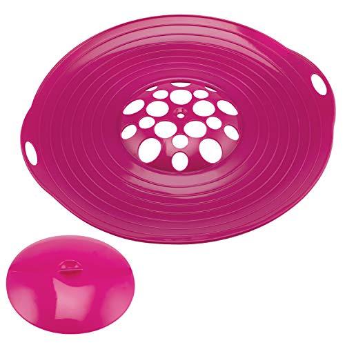 bremermann Protection Anti-débordement en Silicone, 2 pièces, 30-32 cm (Lila)