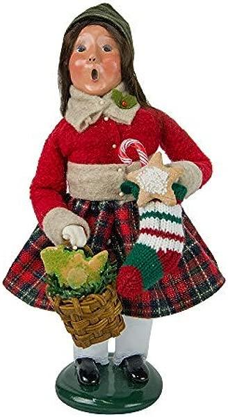 拜尔斯精选女孩与姜饼颂歌雕像 4463D 来自圣诞市场收藏