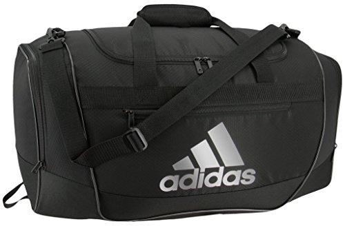 adidas Unisex Defender III Small Duffel Bag, Black/ Silver, Small
