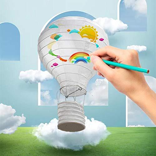Clevoers Papierlaternen Lampenschirm, Laternen Papierballon Heißluft, Die Handgemachtes, Chinesisches Ballon Lampion Blance Für Jahrestags Dekorationen Wedding Dekorationen Faltet