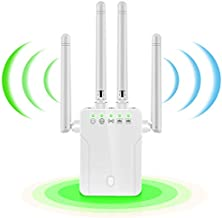 WiFi Extender, 1200Mbps WiFi Range Extender, 2.4 & 5GHz Wireless Signal Repeater Booster, Covers Up to 2500 sq.ft and 20 Devices, Extend WiFi Signal to Smart Home & Alexa Devices