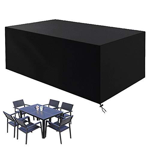 CYWEB Fundas Muebles Jardin, Impermeable Cubierta Protectora para Mesa Sillas y Sofás de Exterior Anti-UV Tela Oxford 420D (180 x 120 x 74 cm)