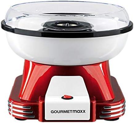 GOURMETmaxx Machine à barbe à papa pour la maison avec accessoires | Machine à barbe à papa rétro avec bâtonnets de b...
