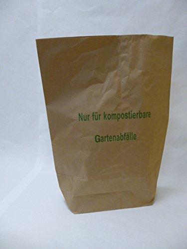 50 St. Papier-Bioabfallsäcke 120l Format 70x95x22 cm Motiv: