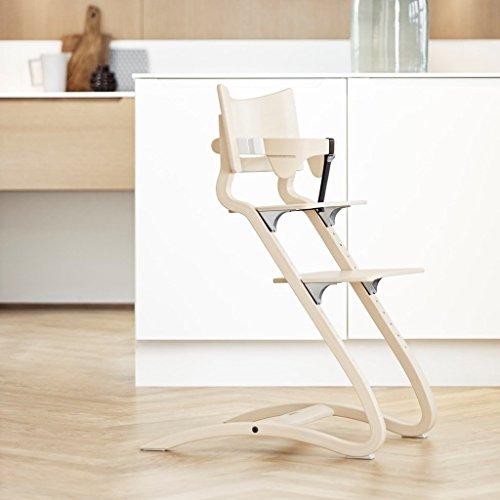 Leander Treppenhochstuhl aus Holz für Babys und Kleinkinder, höhenverstellbarer und mitwachsender Hochstuhl für Kinder ab 6 Monaten, Design in Whitewash aus formgebogener Buche mit FSC-Zertifikat