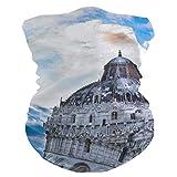 LZXO Bandana Fascia Pisa con motivo torre senza cuciture, sciarpa per il viso, passamontagna, copriletto, scaldacollo per protezione da polvere, vento e sole