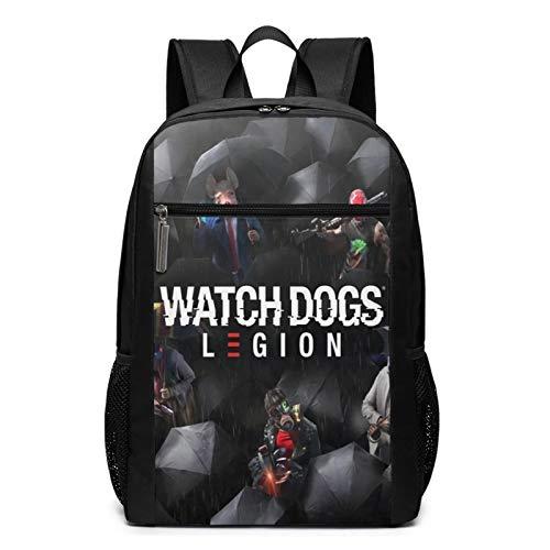 Watch-Dogs-Legion - Zaino per scuola, viaggio o lavoro, con tasca per bottiglia d'acqua