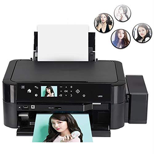 TANCEQI Tintenstrahldrucker A4 6-Farbdrucker Multifunktions (Drucken/Kopieren/Scan, Split Cartridge, Duplex-Funktion, Kompatibel Mit USB 2.0, Schwarz)