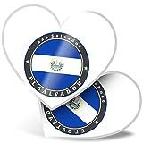 Impresionante 2 pegatinas de corazón de 7,5 cm – Bandera de El Salvador Centroamérica divertidos calcomanías para portátiles, tabletas, equipaje, libros de chatarras, neveras, regalo genial #9235