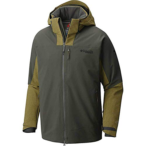Columbia Titanium Men's Powder Keg Omni Heat Waterproof Jacket Gravel