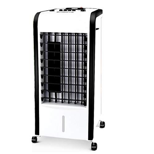 Ventilateur de climatisation portable, chauffage et refroidissement, ventilateur à double usage sûr et sans feuilles, ventilateur de petite tour domestique (Color : White)
