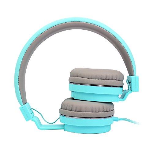 On Ear Headphones, Marvotek Stereo Headphones for Girls Wired Headphones with Mic Foldable Headphones Lightweight Headphones for Kids Photo #3