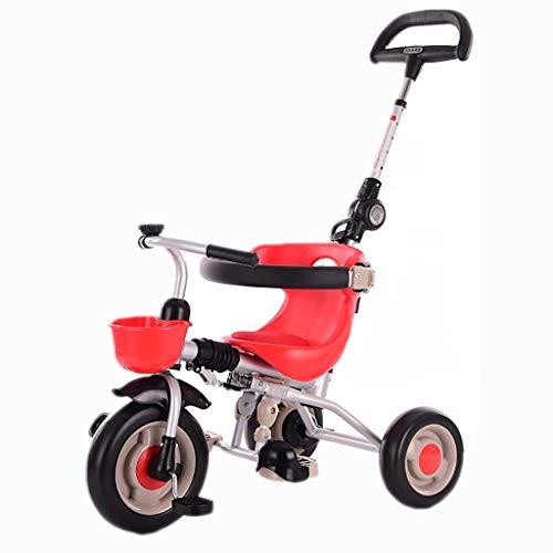 YETC Triciclos for niños Bicicletas 1-3-6 años de Edad Bicicletas cochecitos de bebé Bicicletas Infantiles niños y niñas de los cochecitos (Color : Red)