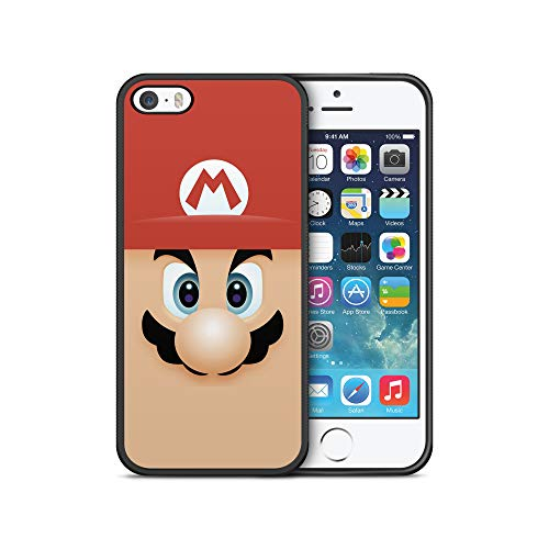 Mario Face Character Phone Case Compatible with iPhone 5/5S