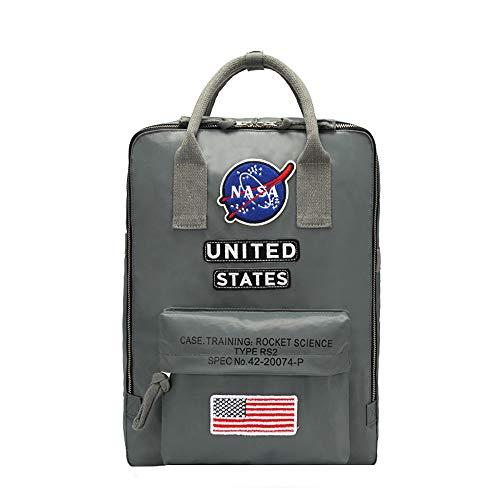 NASA Rucksäcke Casual Rucksack-Laptoptasche Rucksack Geschäftsdruck Daypack Reisetasche Rucksack NASA Schulrucksack (Color : A01, Size : 38 X 30 X 12cm)