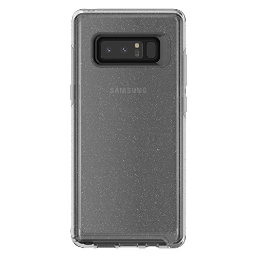 Otterbox Symmetry Clear Series Case for Samsung Galaxy note8 - Retail Packaging - Stardust (Silver Flake/Clear)