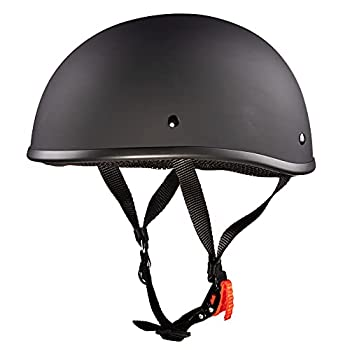 WCL Beanie Motorcycle Half Helmet - Small and Light DOT Approved Skull Cap  Medium Matte Black