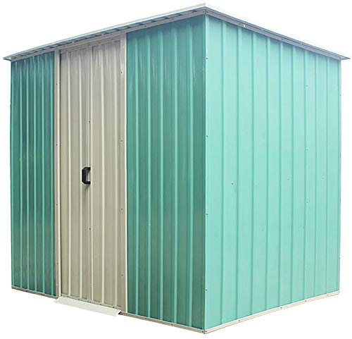 Storage shed, Metal Garden Storage shed roof, to Fully Protect Your Gardening Equipment,8 x 8ft