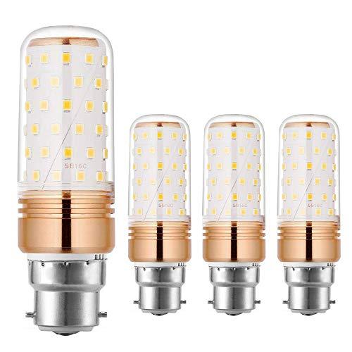 Ahevo 15 W B22 LED-Maisbirnen, 100-120 W Glühlampen-Äquivalent, Warmweiß, 1500 Lm, nicht dimmbar (3000 K, 4er-Pack)