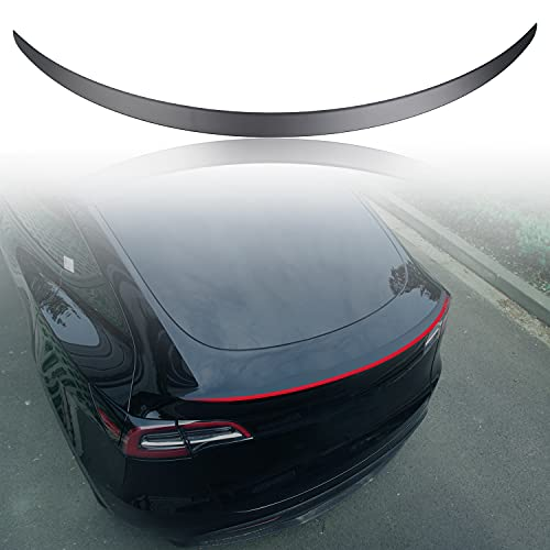 XTAUTO Spoiler Fit for Tesla Model Y Tail Wing Performance Rear Spoiler Trunk Lid Lip ABS Material 2016-2021 Tesla Model Y Accessories (Matte Black)