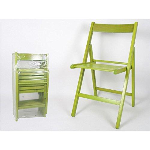 Gerimport S.L. Chaise pliante en bois, prix par unités, Vert