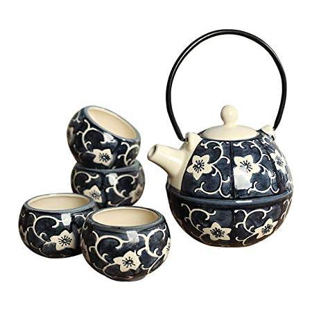 set da t/è da viaggio Set da t/è cinese portatile Kung Fu Teiera set da t/è in ceramica vintage giallo