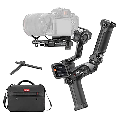"""ZHIYUN Weebill 2 Combo, 3-Axis Handheld Gimbal Stabilizer for DSLR Mirrorless Cameras for Sony Nikon Canon Panasonic Lumix BMPPC 6K, Foldable 2.88"""" Full-Color Touchscreen, PD Fast Charge"""