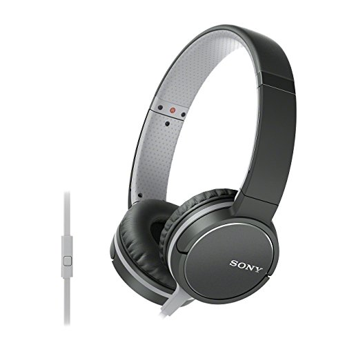 Sony MDR-ZX660AP Lightweight On-Ear Headphone with Smartphone Control - Black