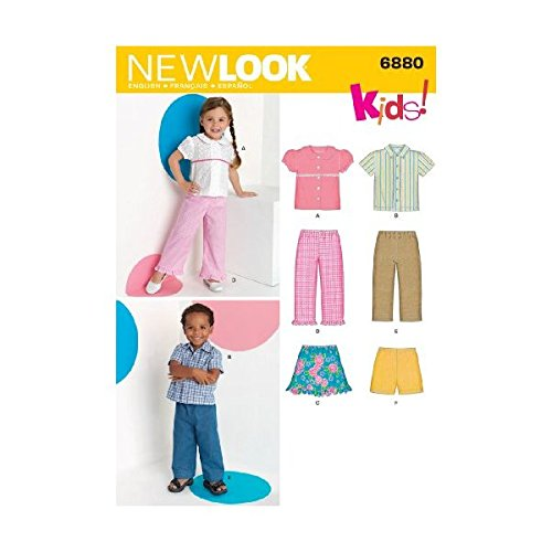 New Look Sewing Pattern 6880 Toddler Separates, Size A (1/2-1-2-3-4)