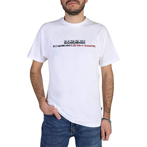 Napapijri Sastia Camiseta, Blanco (Bright White 0021), Medium para Hombre